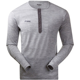 Bergans Henley Wool Shirt Herr grey mel